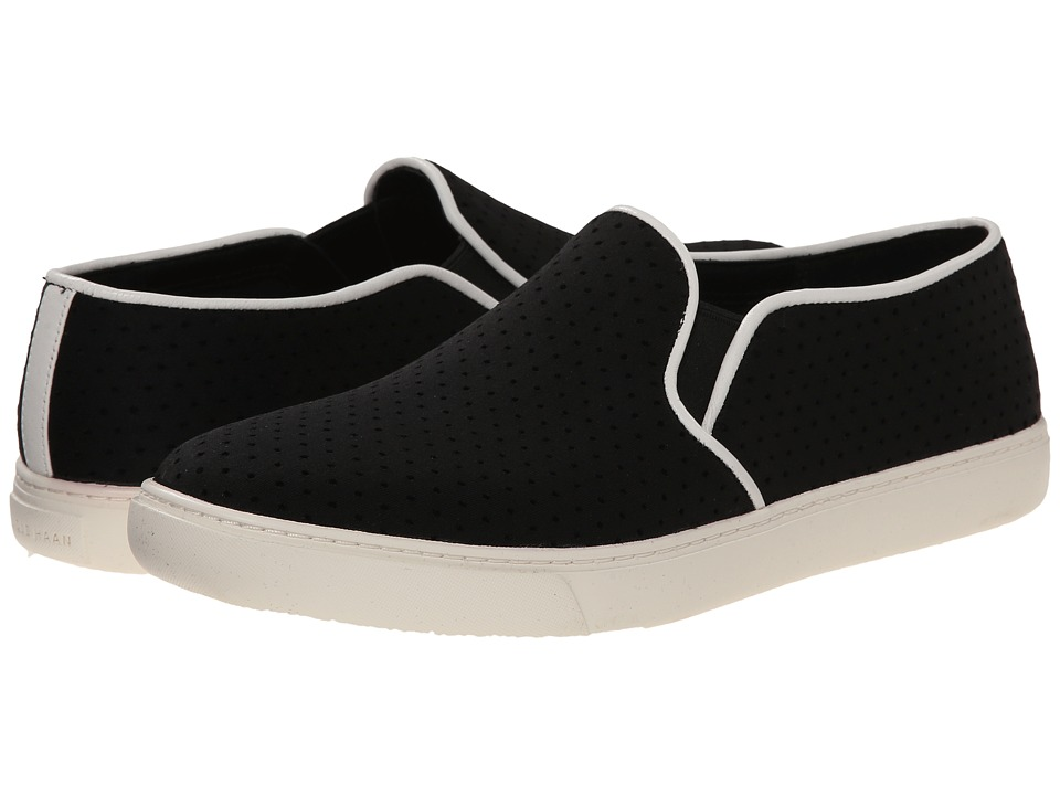 Cole Haan - Bowie Slip-On Sneaker (Black Perf Textile) Women