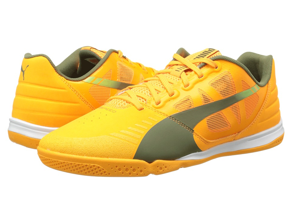 PUMA - Evospeed Sala (Fluo Flash Orange/Burnt Olive/Sharp Green) Men's Shoes