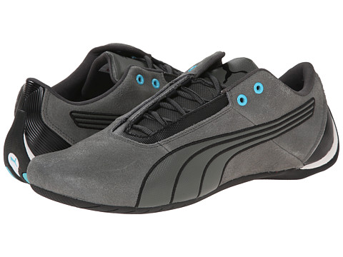 PUMA - Future Cat S1 Leather (Dark Shadow/Dark Shadow/Black) Men's Shoes