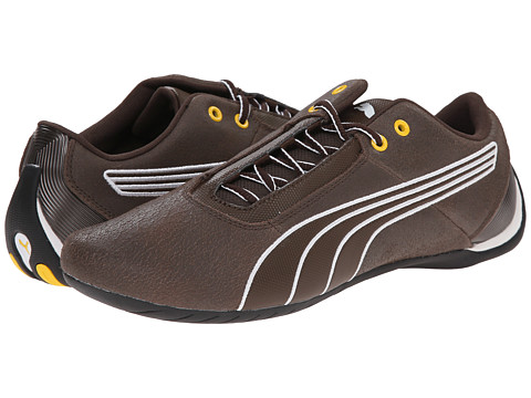 PUMA - Future Cat S1 Leather (Chocolate Brown/Chocolate Brown/White) Men's Shoes