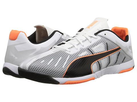 PUMA - Neon Lite 2.0 (White/Black/Fluo Flash Orange) Men's Shoes