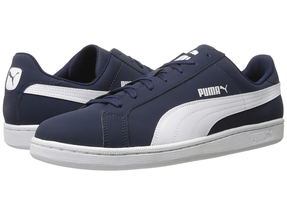 PUMA - Smash Buck (Peacoat/White) Men's Shoes