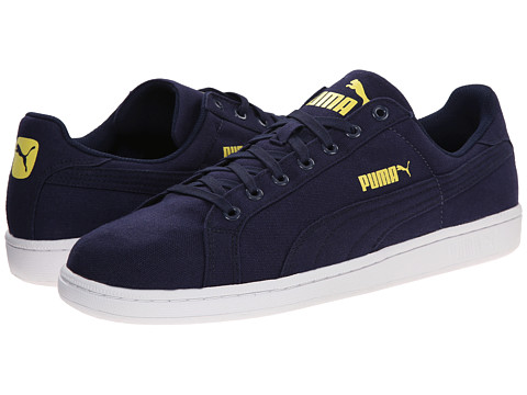 PUMA - Smash CV (Peacoat/Peacoat) Men's Shoes