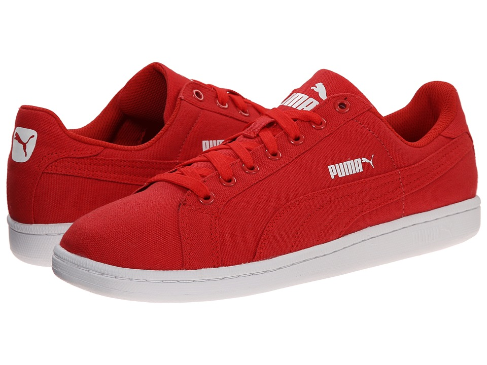 PUMA - Smash CV (High Risk Red/High Risk Red) Men's Shoes
