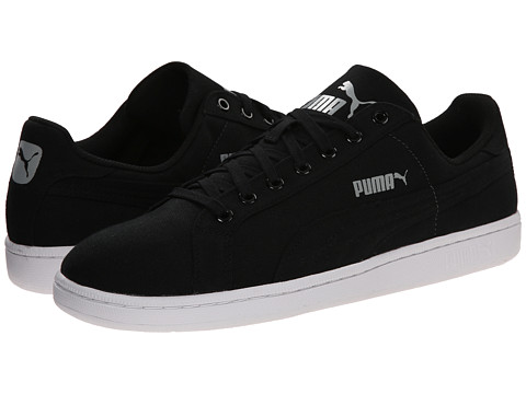 PUMA - Smash CV (Black/Black) Men's Shoes