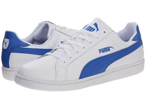 PUMA - Smash L (White/Strong Blue) Men's Shoes