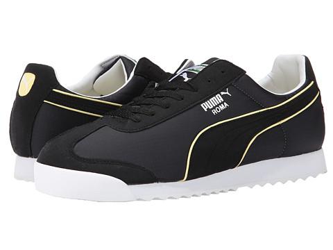 PUMA - Roma Spring NM (Black/Sunshine) Men's Shoes