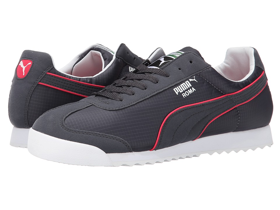 PUMA - Roma Spring NM (Dark Shadow/Teaberry Red) Men's Shoes