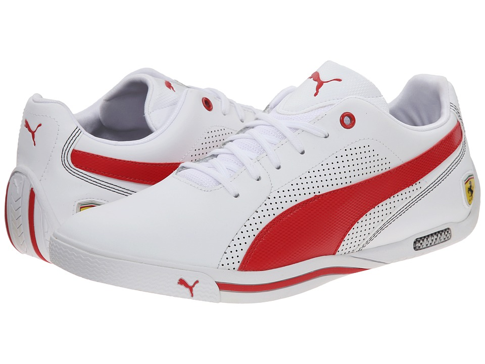 PUMA - Selezione SF (White/Rosso Corsa) Men's Shoes