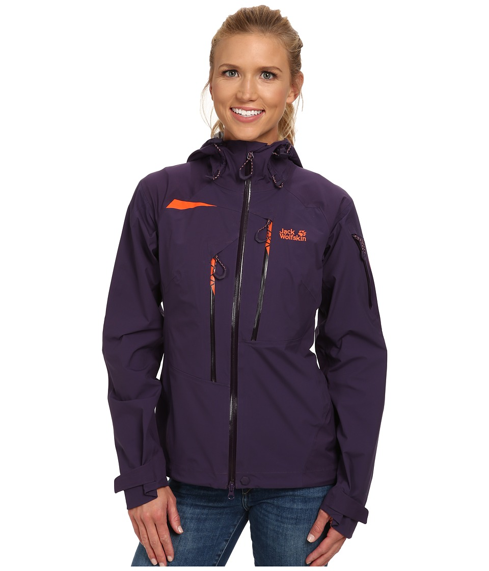 Jack Wolfskin - Exolight Texapore Jacket (Prune) Women