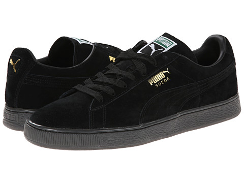 PUMA - Suede Classic+ Iced (Black/Gold Foil) Men's Classic Shoes