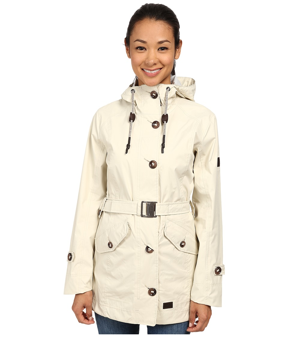 Jack Wolfskin - Tabora Texapore Coat (White Sand) Women's Coat