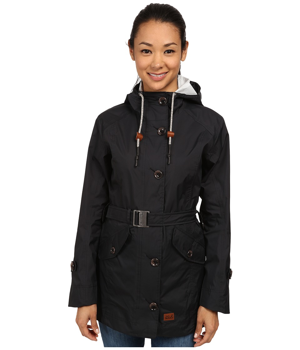 Jack Wolfskin - Tabora Texapore Coat (Black) Women's Coat