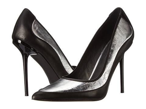 L.A.M.B. - Bethel (Silver/Black) High Heels