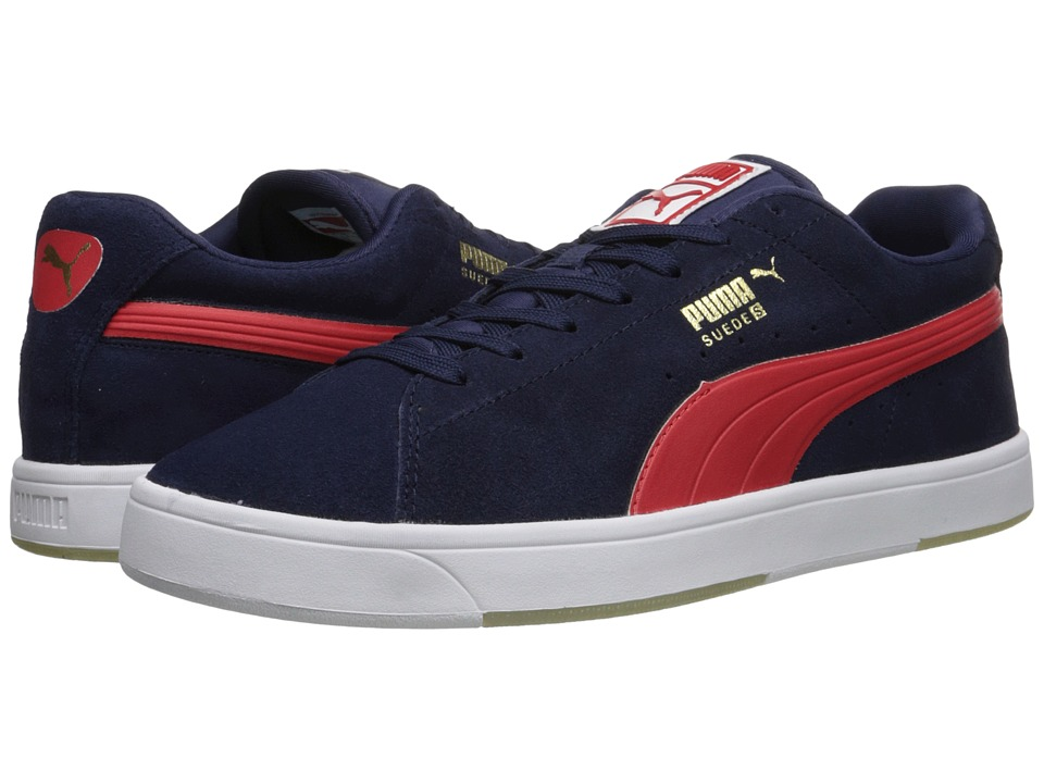 PUMA - Suede Skate (Peacoat/High Risk Red) Men
