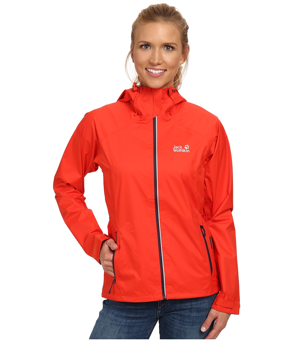 Jack Wolfskin - Exhalation Texapore Jacket (Bright Pumpkin) Women's Jacket