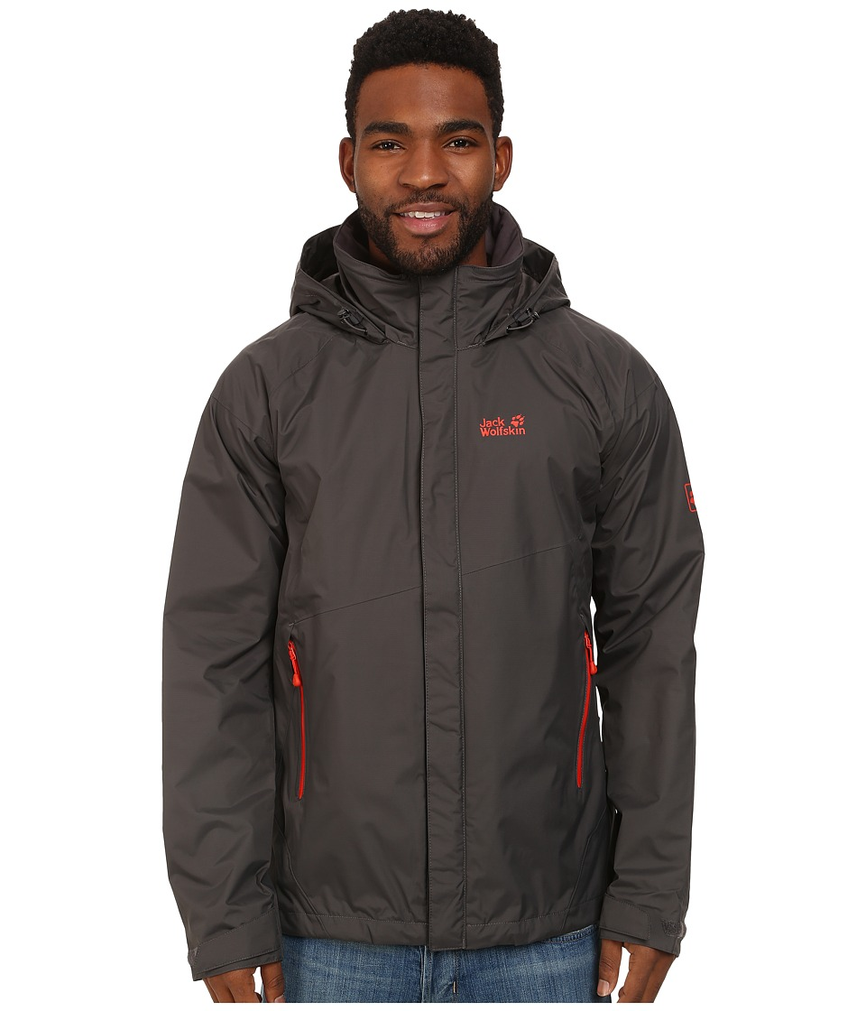Jack Wolfskin Supercell Texapore Jacket (Dark Steel) Men