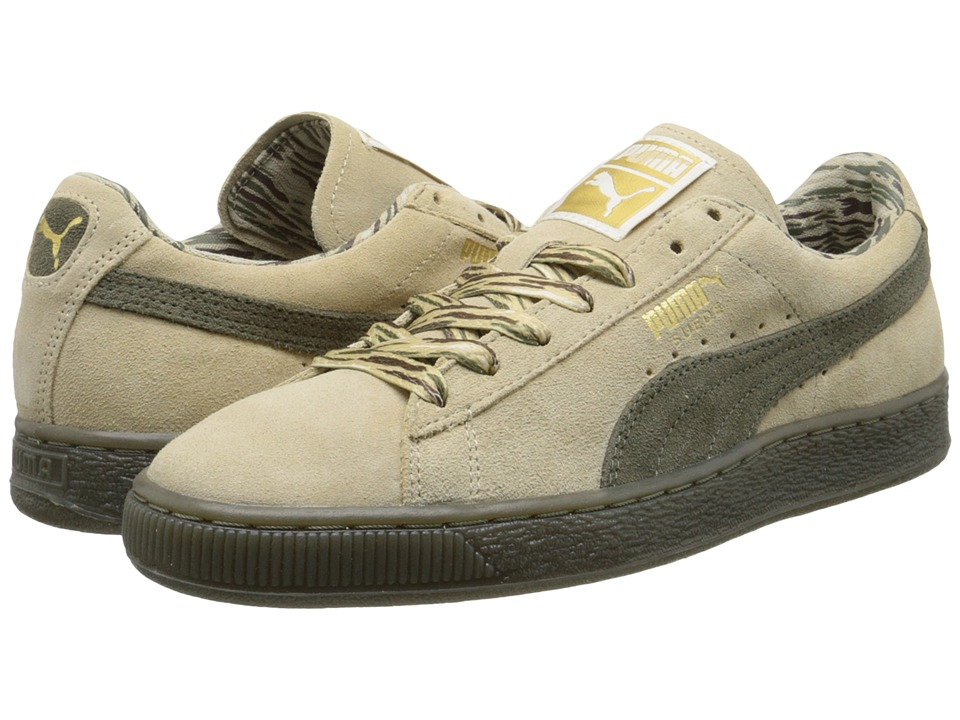 PUMA - Suede Classic Lo Coastal (Pale Khaki) Women's Shoes