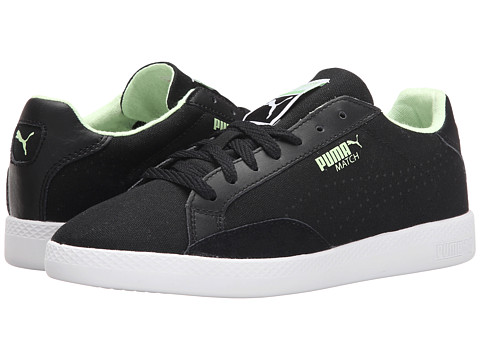 PUMA - Match Lo Canvas Sport (Black/White/Patina Green) Women's Shoes
