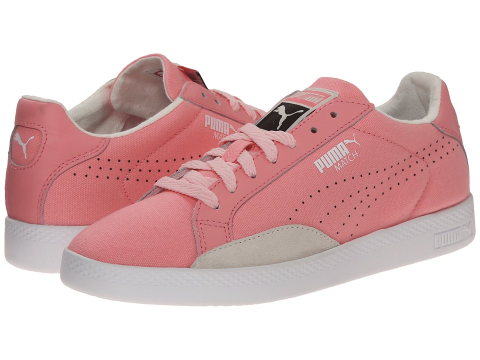 PUMA - Match Lo Canvas Sport (Flamingo Pink/Whisper White/Crystal Rose) Women's Shoes