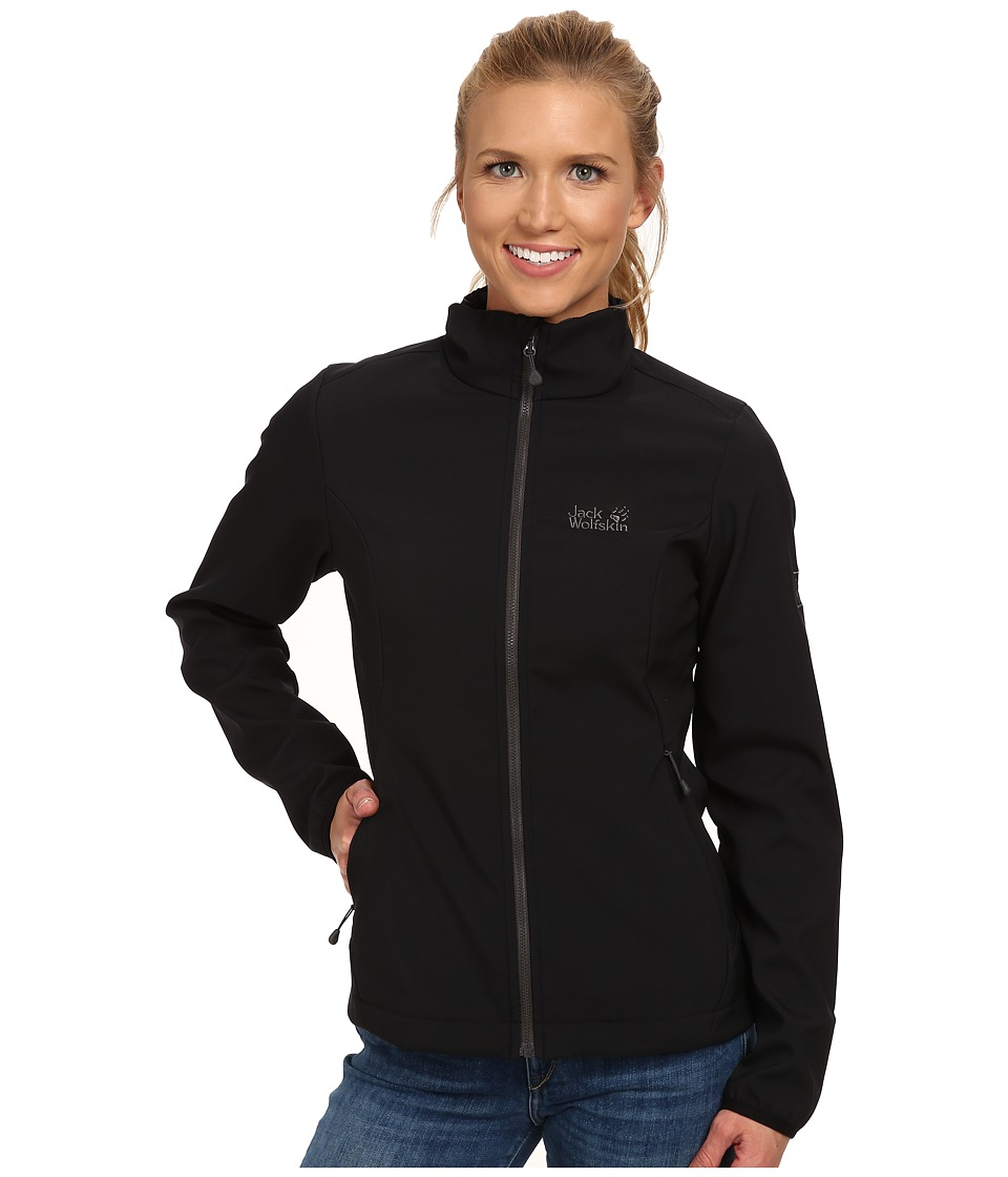 Jack Wolfskin - Element Softshell Jacket (Black) Women's Jacket