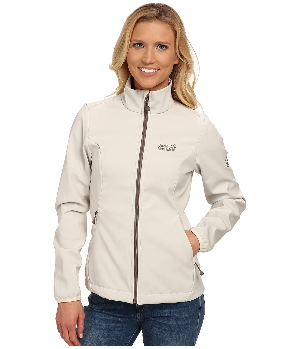 Jack Wolfskin - Element Softshell Jacket (White Sand) Women