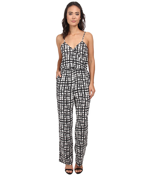 Brigitte Bailey - Printed Jumpsuit (Cream) Women's Jumpsuit & Rompers One Piece