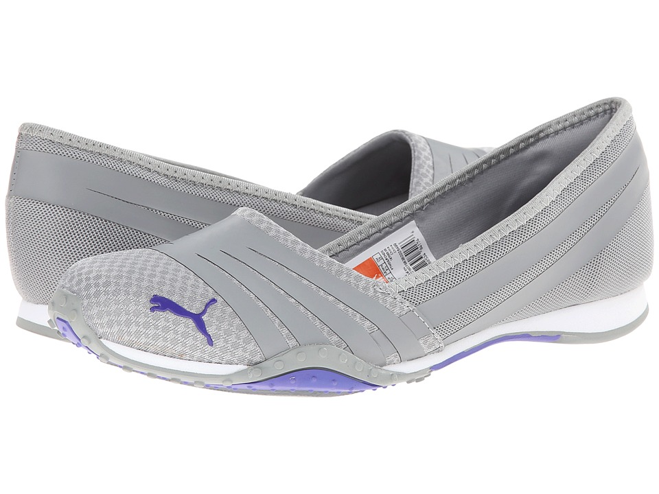 PUMA - Asha NU Alt 2 (Limestone Gray/Blue Iris) Women's Shoes