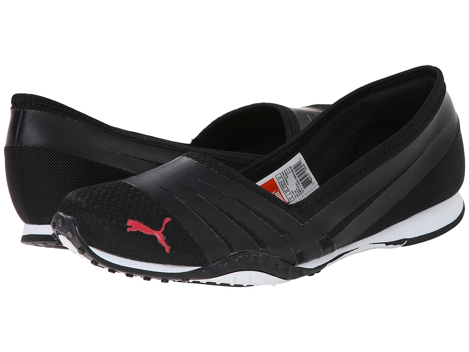 PUMA - Asha Alt 2 (Black/Geranium) Women's Ballet Shoes