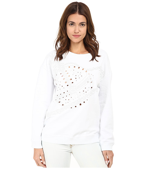 Vivienne Westwood Anglomania - Sweatshirt Orb Embroidery (White) Women