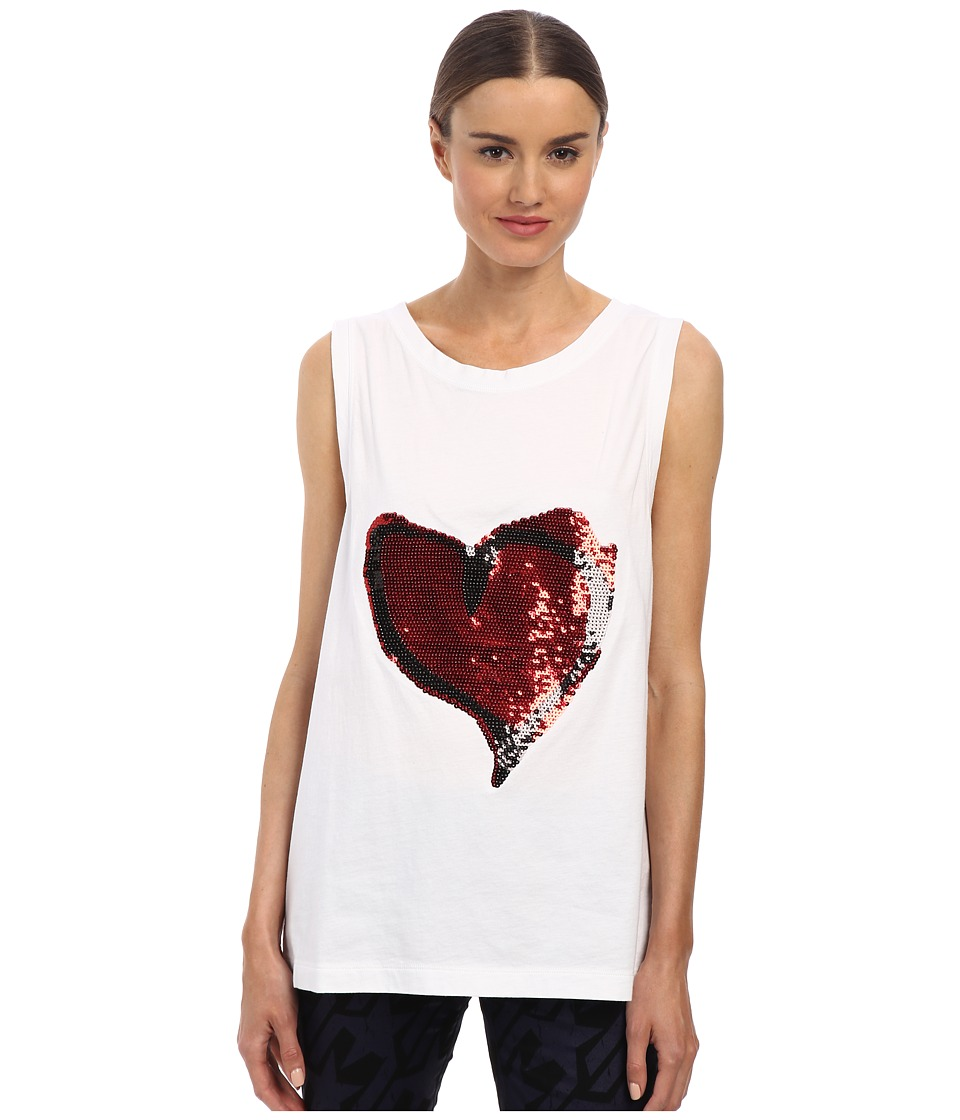 Vivienne Westwood Anglomania - Soley Vest Heart Sequins (White) Women's Vest