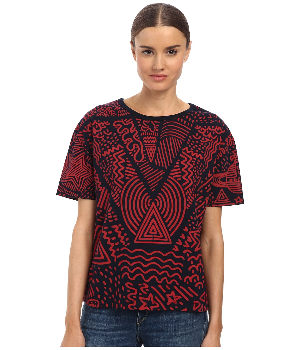 Vivienne Westwood Anglomania - Liquor Tee Protest Print (Red) Women