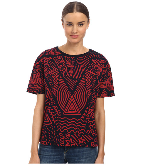 Vivienne Westwood Anglomania - Liquor Tee Protest Print (Red) Women's T Shirt