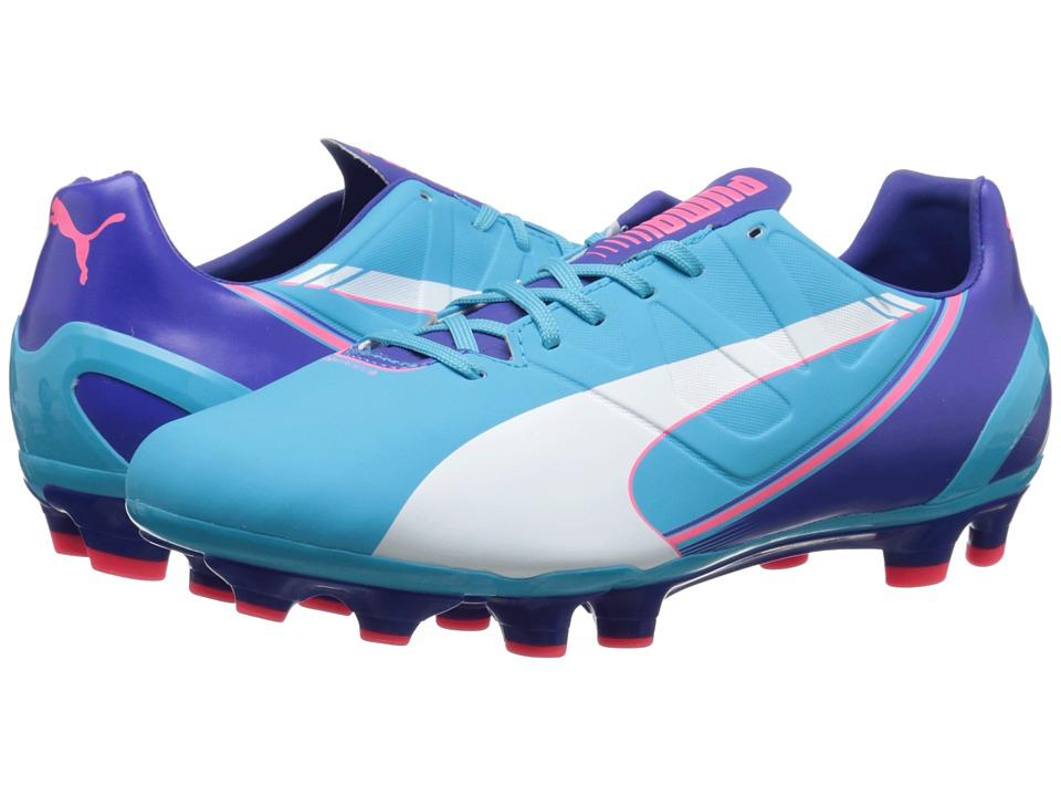 PUMA - evoSpeed 3.3 FG (Blue Atoll/White/Clematis Blue/Bright Plasma) Women's Shoes