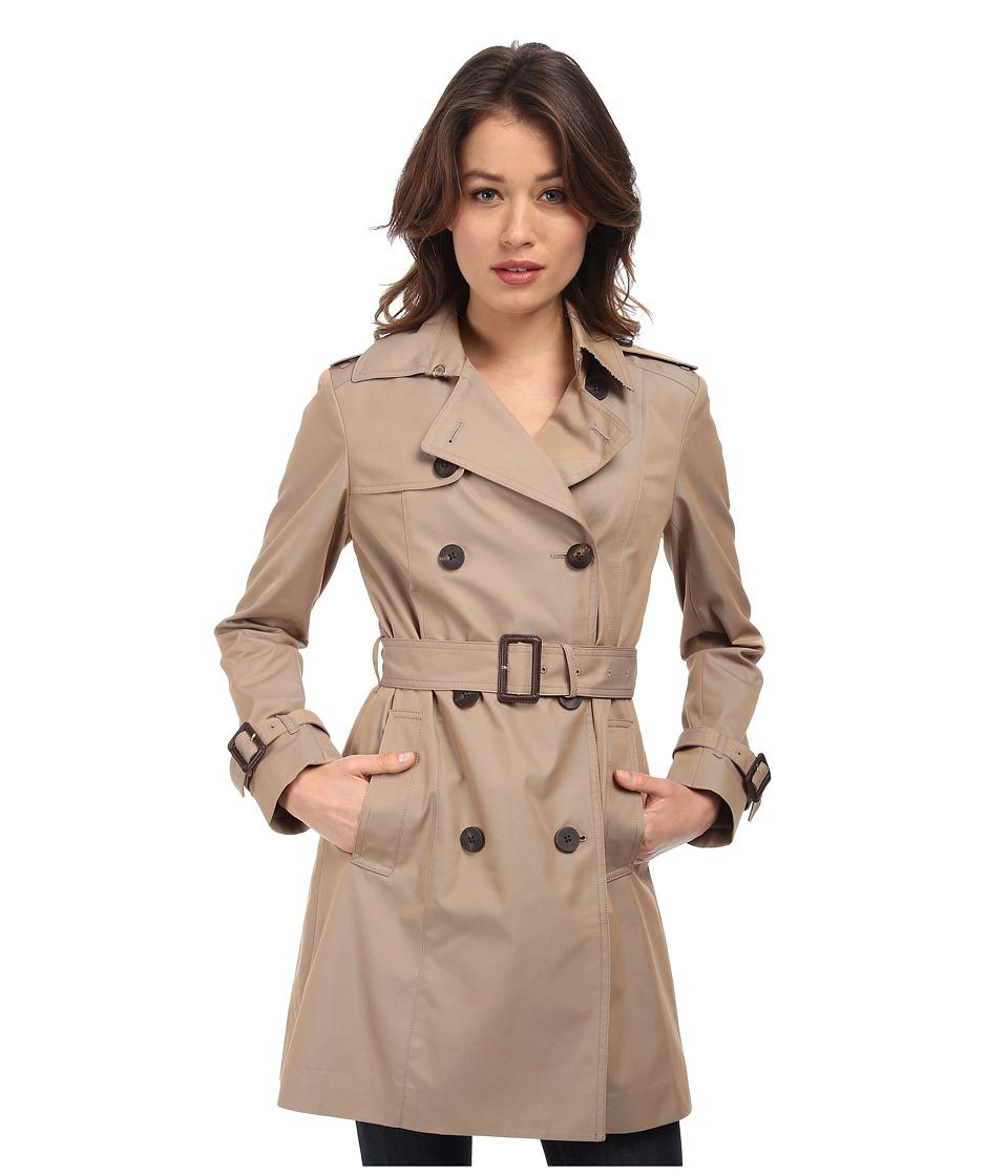 Diane von Furstenberg - Sandrine Trench Coat (Khaki) Women's Coat