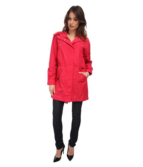 Diane von Furstenberg - Nathalie Trench Coat (Fuchsia Berry) Women's Coat