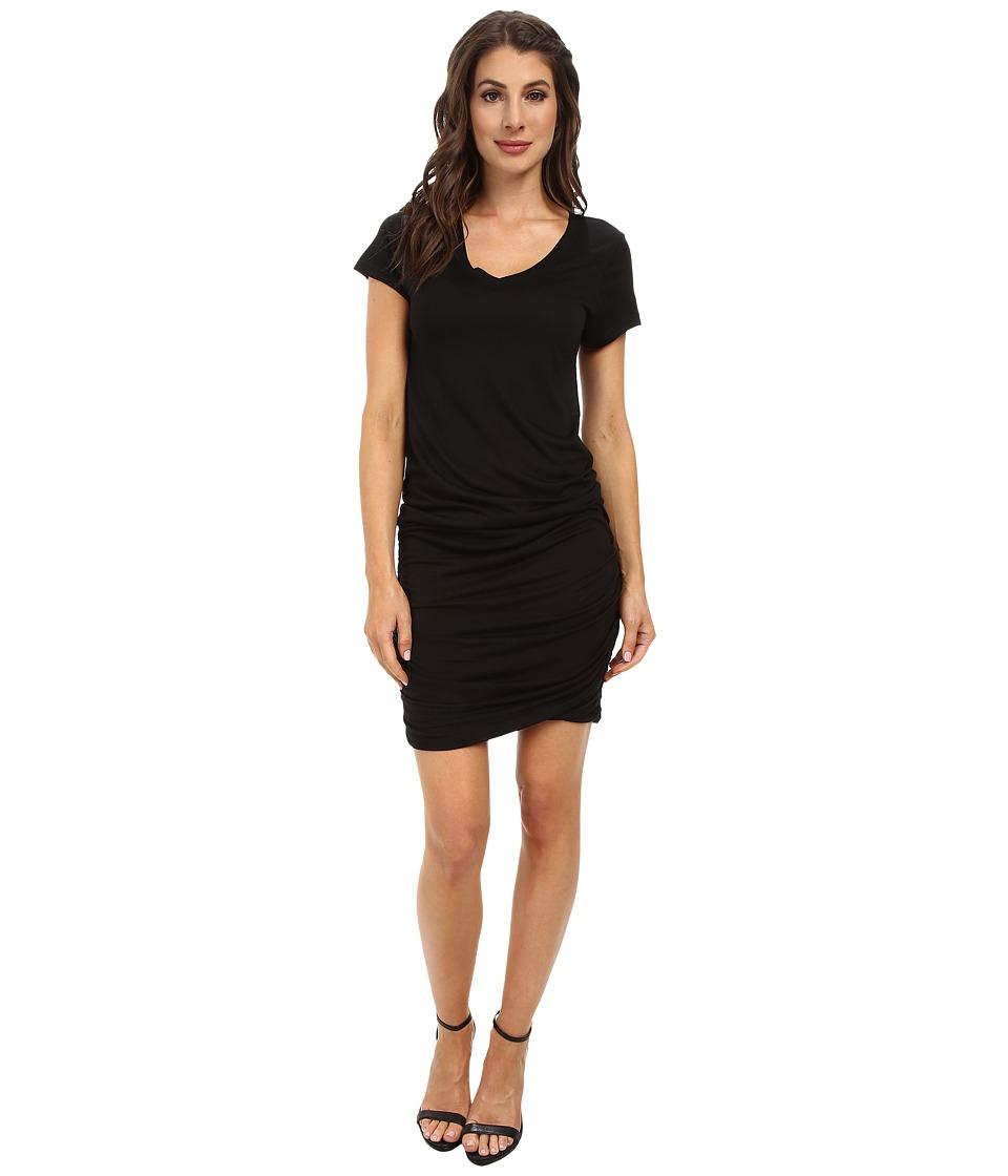 Allen Allen - Ruched Dress (Black) Women