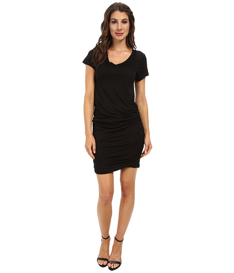 Allen Allen - Ruched Dress (Black) Women