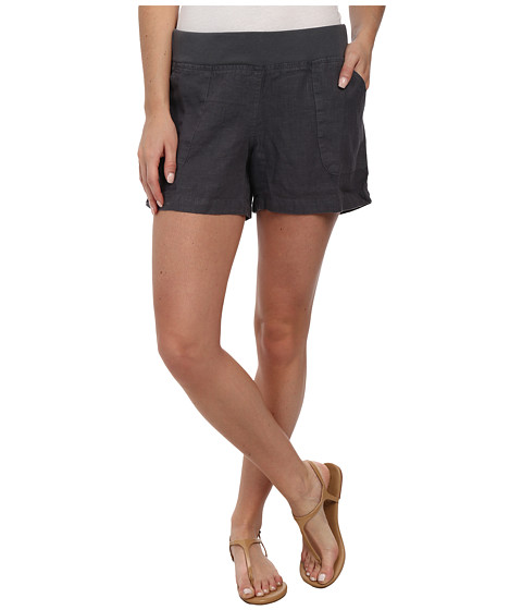 Allen Allen - Linen Short (Flint) Women