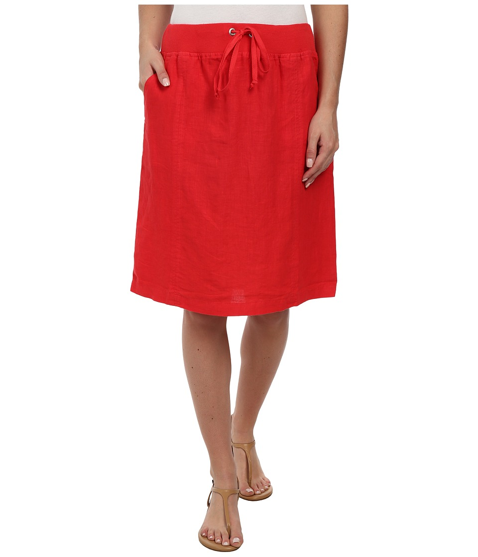 Allen Allen - Linen Skirt (Poppy) Women's Skirt