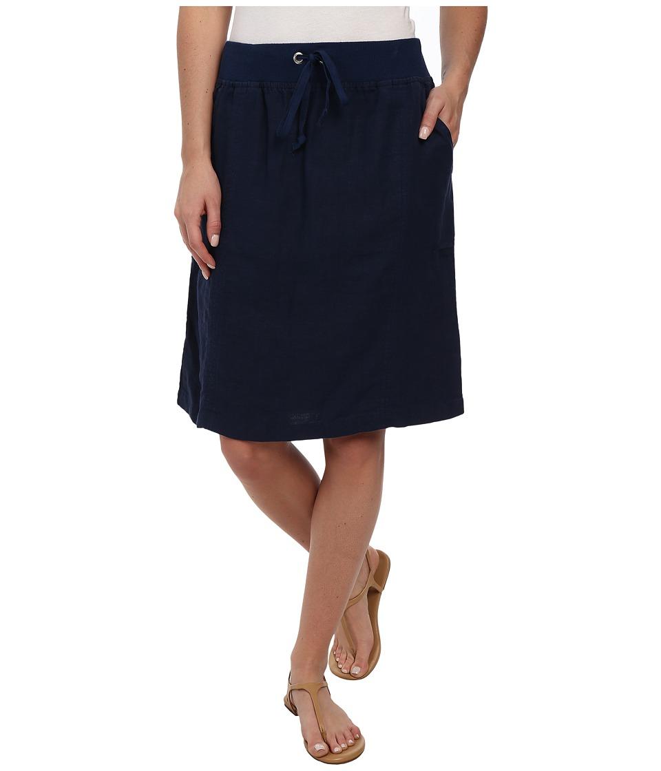 Allen Allen - Linen Skirt (Lapis) Women's Skirt