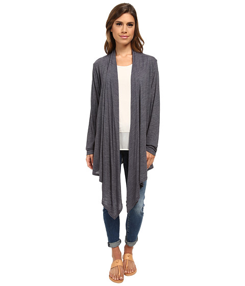 Allen Allen - Open Cardigan (Flint) Women