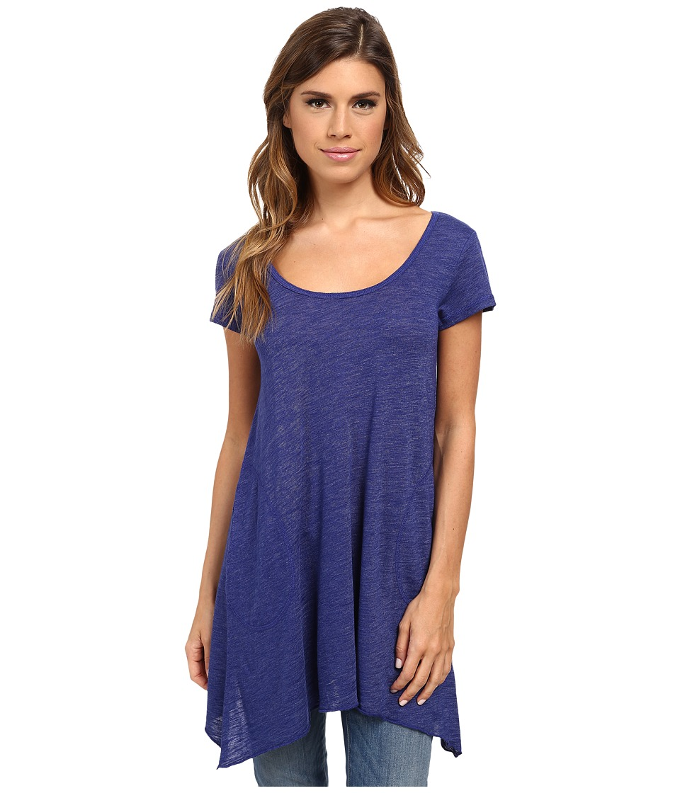 Allen Allen - S/S Slub Tunic (New Blue) Women's Blouse