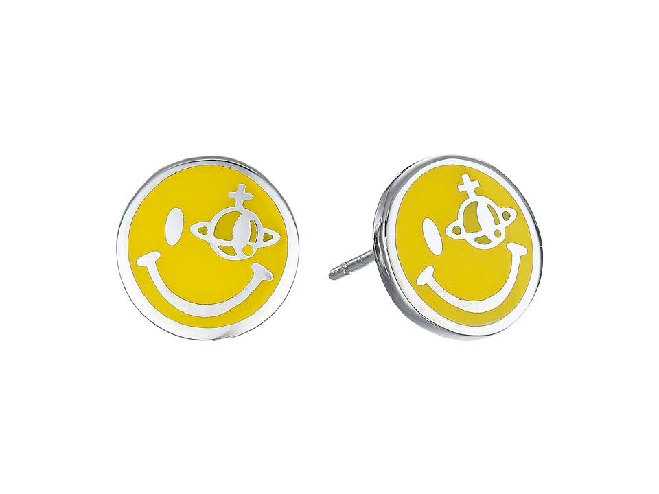 Vivienne Westwood - Smiley Earrings (Rhodium) Earring