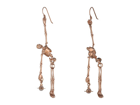 Vivienne Westwood - Skeleton Earrings (Pink Gold) Earring