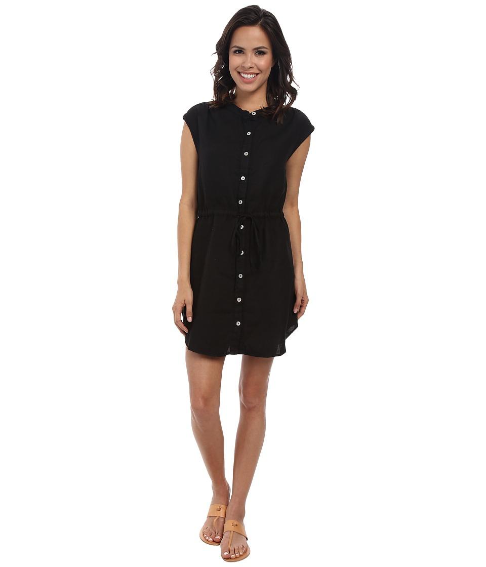 Allen Allen - Sleeveless Shirt Dress (Black) Women's Dress