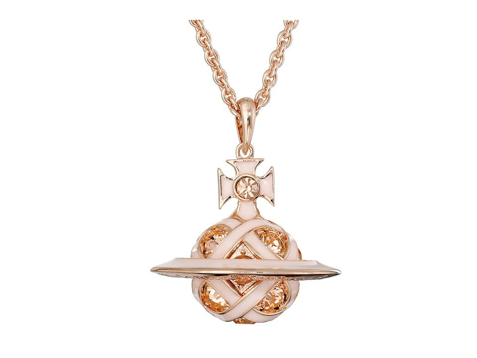 Vivienne Westwood - Bloomsbury Orb Pendant (Pink Gold) Necklace