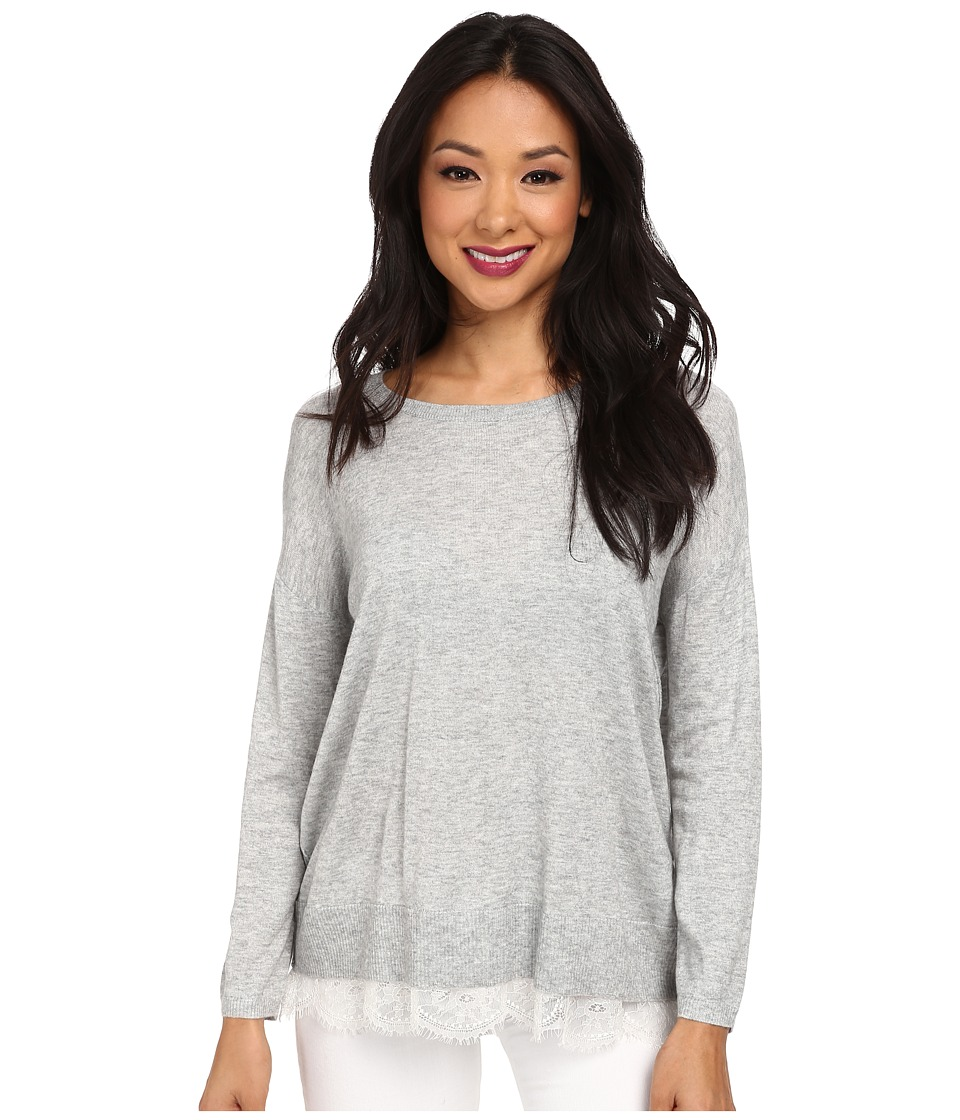 Joie - Hilano C 483-8069C (Light Heather Grey/Porcelain) Women's Long Sleeve Pullover