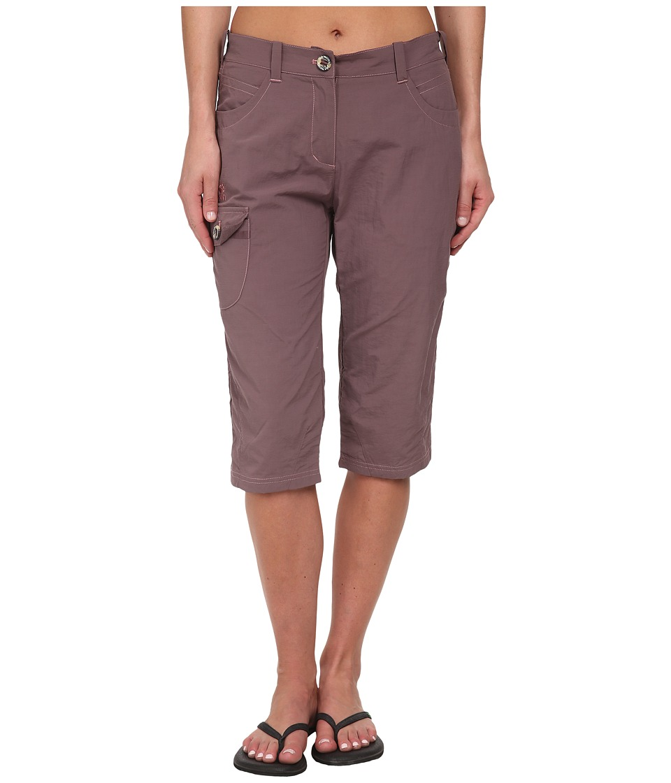 Jack Wolfskin - Atacama 3/4 Pants (Mulberry) Women's Casual Pants