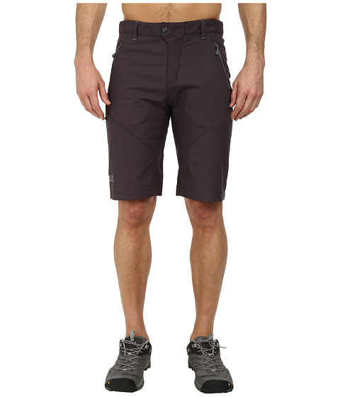 Jack Wolfskin - Active Track Shorts (Dark Steel) Men's Shorts